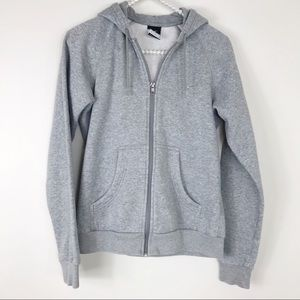Nike gray zip-up hoodie sweatshirt small